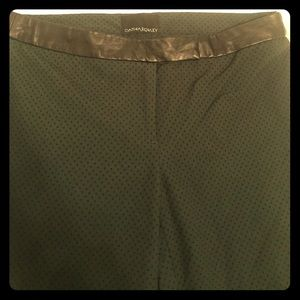 Cynthia Rowley pants w/ leather waist.